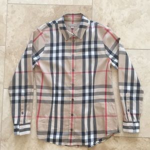 Burberry Brit Nova Check Plaid Blouse
